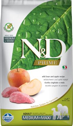 N&D Prime Dog Boar & Apple Adult Medium & Maxi